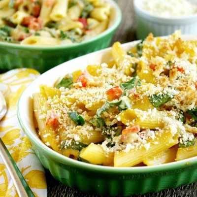 Clean Eating Vegan Baked Penne with Spicy Rose' Sauce   The Healthy Family and Home
