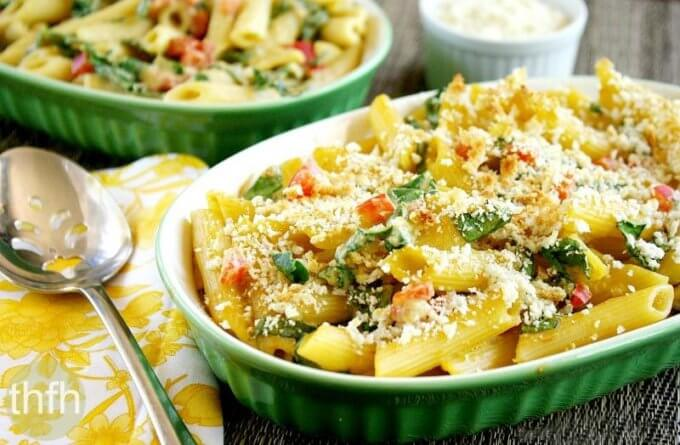 Vegan Baked Penne with Spicy Rose' Sauce (Vegan, Gluten-Free, Dairy-Free)
