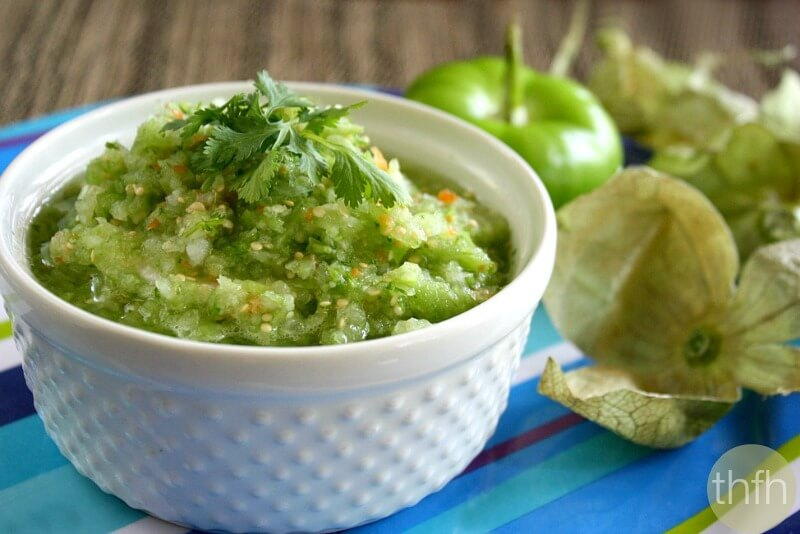 Clean Eating Raw Tomatillo Salsa   The Healthy Family and Home