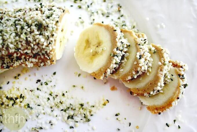 Banana Hemp Seed Sushi Slices (Vegan, Gluten-Free, Dairy-Free, Paleo-Friendly*, No Refined Sugars)