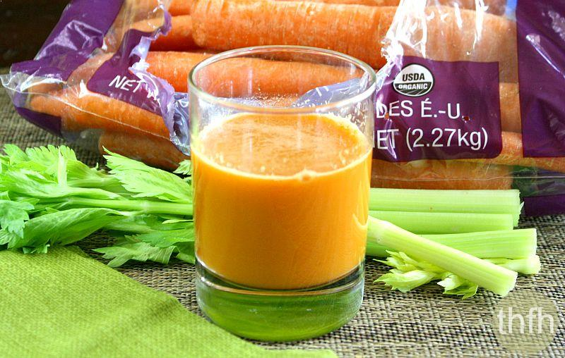 Carrot Apple and Celery Juice | The Healthy Family and Home