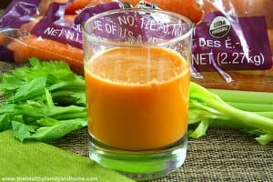 Carrot Apple and Celery Juice