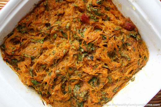 clean-eating-vegan-italian-spaghetti-squash-bake