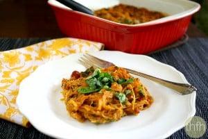 Vegan Italian Spaghetti Squash Bake (Vegan, Gluten-Free, Dairy-Free, Egg-Free, Paleo-Friendly)