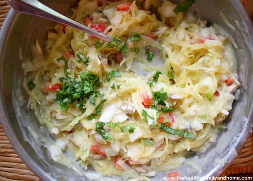 Spaghetti-Squash-with-Creamy-Cauliflower-and-Basil-Alfredo