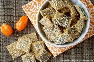 Raw Vegan Habanero Pepper Crackers (Raw, Vegan, GF, Grain-Free)