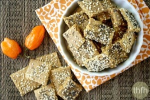 Raw Vegan Habanero Pepper Crackers (Raw, Vegan, Gluten-Free, Grain-Free, Flourless, Dairy-Free, Egg-Free, Flourless)