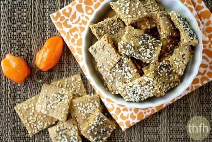Raw Vegan Habanero Pepper Crackers (Raw, Vegan, Gluten-Free, Grain-Free, Flourless, Dairy-Free, Egg-Free, Flourless)