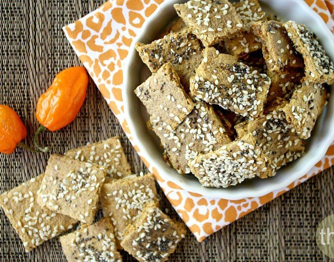Raw Vegan Habanero Pepper Crackers