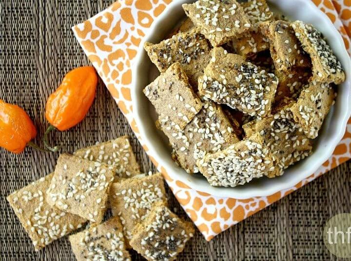 Raw Vegan Habanero Pepper Crackers | The Healthy Family and Home