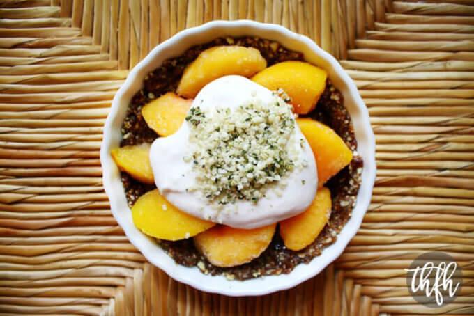 Raw Vegan Peach Tart (Raw, Vegan, Gluten-Free, Dairy-Free, Egg-Free, Soy-Free, No-Bake, Paleo-Friendly,  No Refined Sugar)