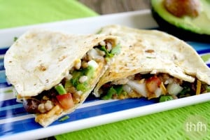 Vegan Gluten-Free Black Bean and Cilantro Quesadillas (Vegan, Gluten-Free, Dairy-Free)