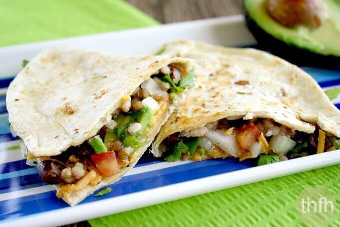 Vegan Gluten-Free Black Bean and Cilantro Quesadillas (Vegan, Gluten-Free, Dairy-Free)