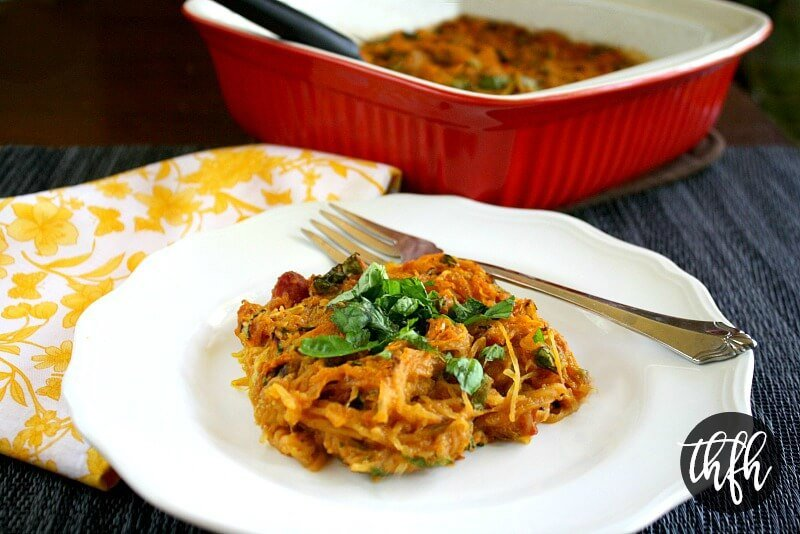 Vegan Italian Spaghetti Squash Bake | The Healthy Family and Home