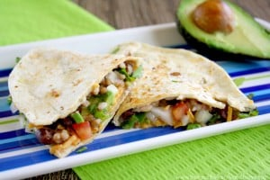 Black Bean and Cilantro Quesadillas (Vegan, Gluten-Free, Dairy-Free)