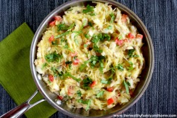 Spaghetti-Squash-with-Creamy-Cauliflower-and Basil-Alfredo-Sauce