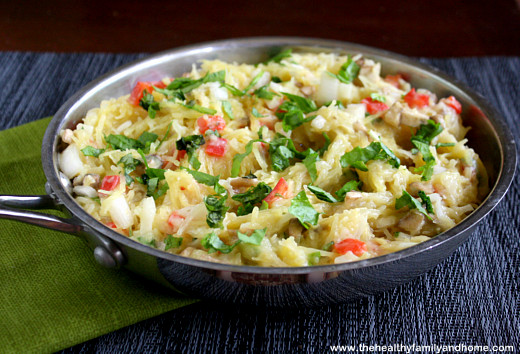Spaghetti-Squash-with-Basil-and-Cauliflower-Alfredo-Sauce