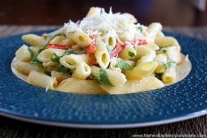 Smoked Mozzarella Pasta Salad (Vegetarian, GF)