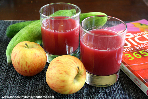 Cucumber-Apple-and-Beet-Juice