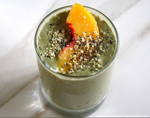 Peach-Green-Smoothie