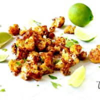 Gluten-Free Vegan Roasted Cauliflower with Chipotle and Lime
