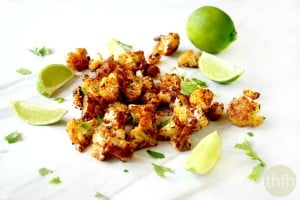 Roasted Cauliflower with Chipolte and Lime (Vegan, Gluten-Free, Dairy-Free, Paleo-Friendly)