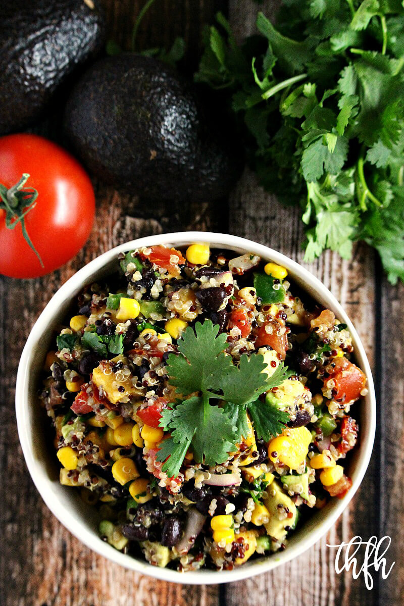 Vegan Red Quinoa and Mango Salad with Lime Dressing | The Healthy Family and Home