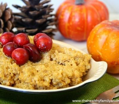 Creamy Pumpkin Quinoa   The Healthy Family and Home