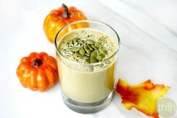 Clean Eating Pumpkin Protein Smoothie - Vegan, Gluten-Free, Dairy-Free, Paleo-Friendly, No Refined Sugars | The Healthy Family and Home
