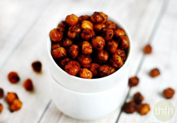 Roasted Chickpeas with Chipotle and Lime (Vegan, Gluten-Free, Nut-Free)