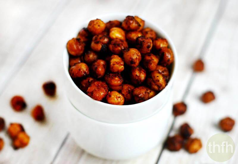 Roasted Chickpeas with Chipotle and Lime | The Healthy Family and Home