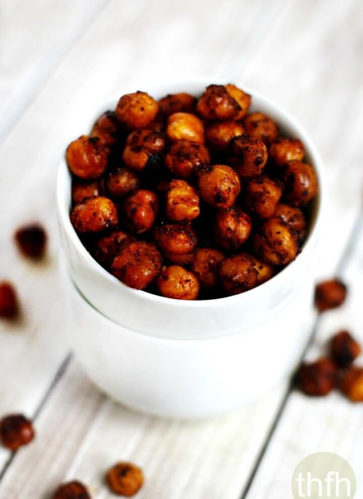 Roasted Chickpeas with Chipotle and Lime