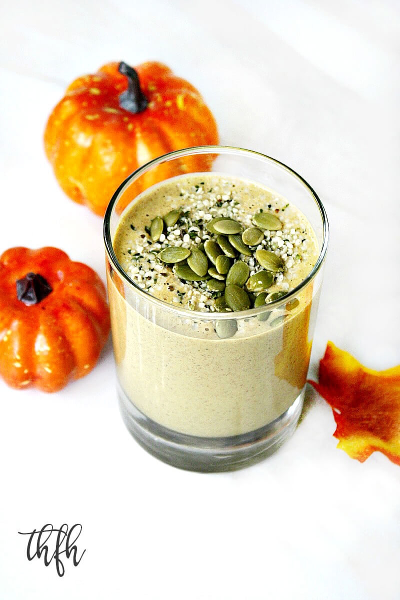 Vegan Pumpkin Protein Smoothie | The Healthy Family and Home