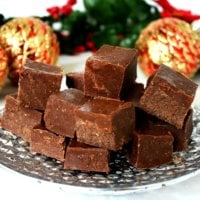 Gluten-Free Vegan No-Cook Healthy Holiday Fudge
