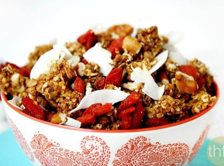 Coconut and Pecan Granola with Goji Berries
