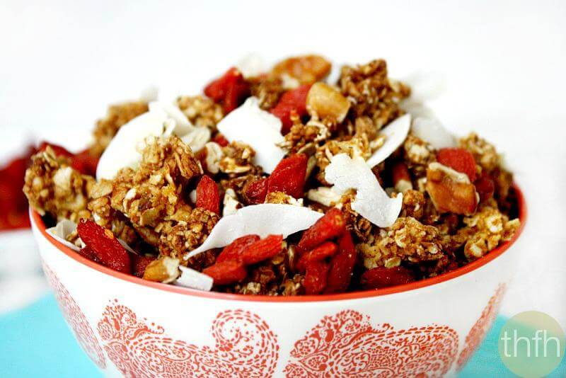 Coconut and Pecan Granola with Goji Berries | The Healthy Family and Home