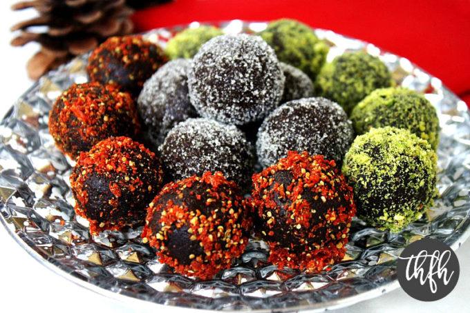 Cacao and Walnut Holiday Truffles (Raw, Vegan, Gluten-Free, Dairy-Free, Paleo-Friendly, No Refined Sugar)