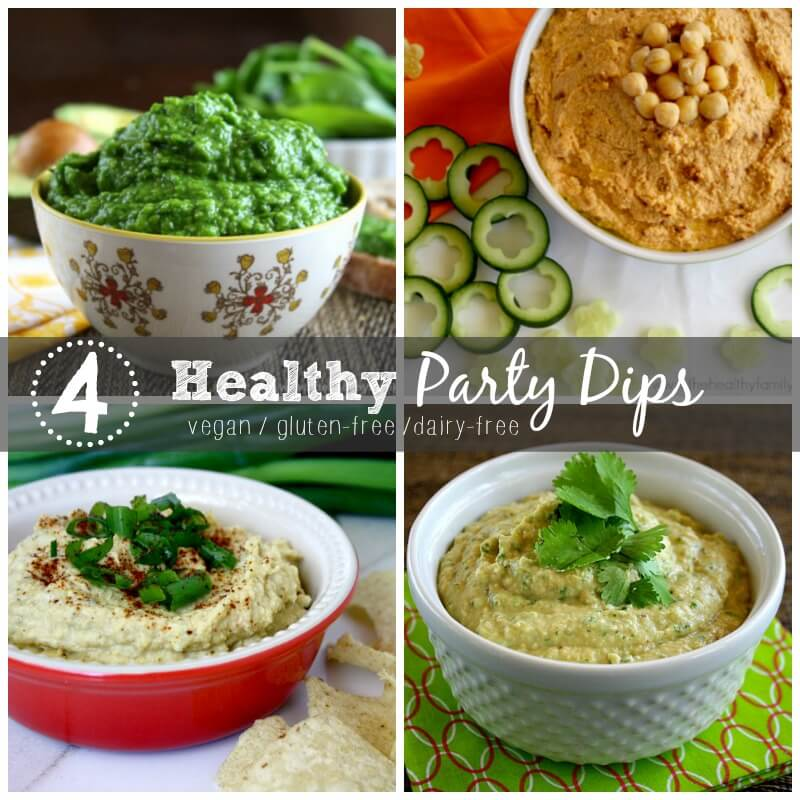 Healthy Party Dips Roundup