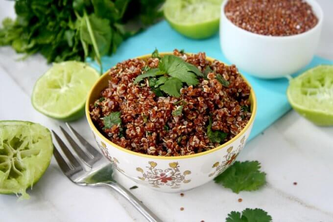 Red Quinoa with Cilantro and Lime (Vegan, Gluten-Free, Grain-Free, Dairy-Free)