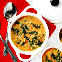 Creamy Vegan Red Lentil and Kale Soup | The Healthy Family and Home