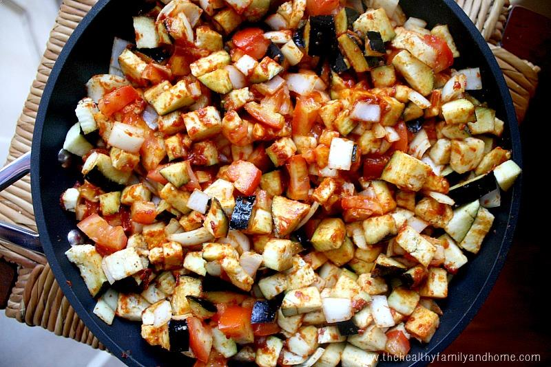 Eggplant Onion and Tomato Stew   The Healthy Family and Home