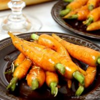 Rosemary and Garlic Maple Glazed Carrots | The Healthy Family and Home