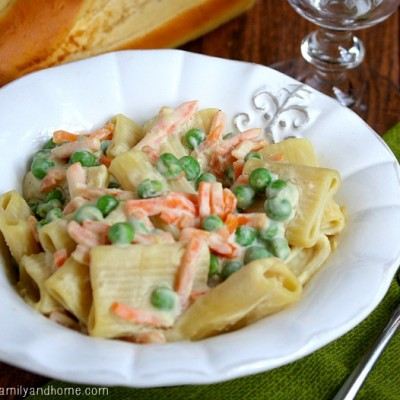 Vegetable Rigatoni with Creamy Cauliflower Sauce   The Healthy Family and Home