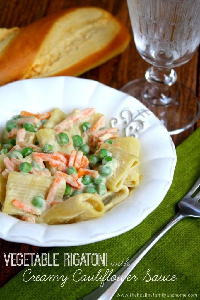 Vegetable-Rigatoni-with-Creamy-Cauliflower-Sauce