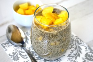 Vanilla Bean and Mango Chia Seed Pudding (Raw, Vegan, Gluten-Free, Dairy-Free, Paleo-Friendly, No Refined Sugar)