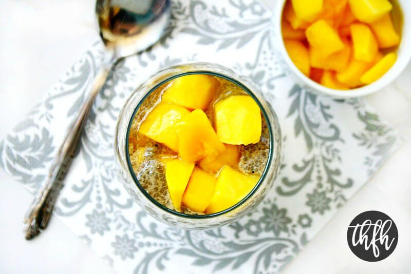 Gluten-Free Vegan Vanilla Bean and Mango Chia Seed Pudding | The Healthy Family and Home
