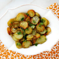 Garlic and Shallot Fingerling Potatoes | The Healthy Family and Home