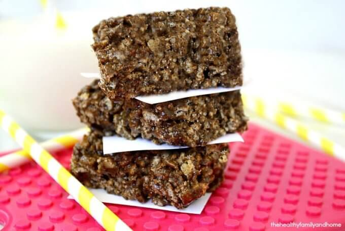 Fudgy Peanut Butter Crispy Squares (Vegan, Gluten-Free, Dairy-Free, No-Bake, No Refined Sugar)