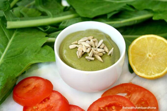 Creamy Dandelion Greens Dressing (Raw, Vegan, Gluten-Free, Dairy-Free, Paleo-Friendly)