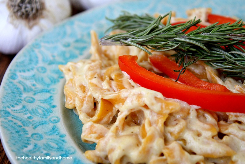 Sweet Potato Fettuccine with Creamy Rosemary with Roasted Garlic Sauce ...